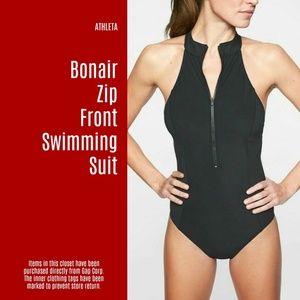 NWT Athleta Bonair Zip Front Swimming Suit (B1)